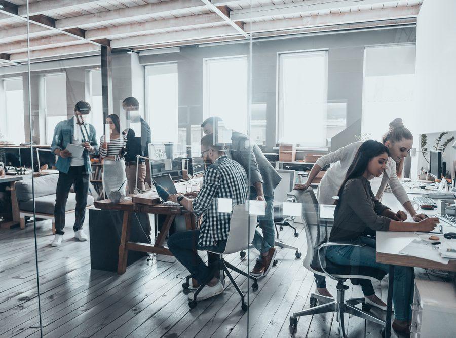 Technology Company Working